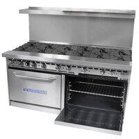 Bakers Pride Restaurant Series 72-BP-12B-S30 12 Burner Gas Range with Two Standard 30 inch Ovens