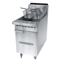 Bakers Pride BPF-6575 Restaurant Series 65-75 lb. Gas Floor Fryer - 152,000 BTU