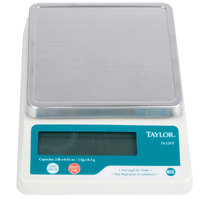 Taylor TE32FT 2 lb. Compact 5 3/8 inch x 5 3/8 inch Digital Portion Control Scale