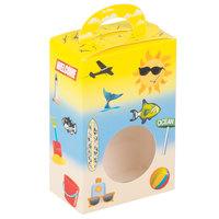 1-Piece 1/2 lb. Beach Window Candy Box 3 1/2 inch X 2 inch X 5 3/8 inch   - 250/Case