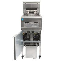 Frymaster FPEL114-2C 30 lb. Split Pot Electric Floor Fryer - 208V, 3 Phase, 14 kW