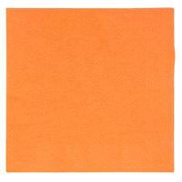 "Choice 10"" x 10"" Customizable Orange 2-Ply Beverage / Cocktail Napkins - 1000/Case"