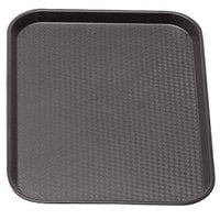 Brown Cambro 1014FF167 10 inch x 14 inch Customizable Fast Food Tray 24/Case