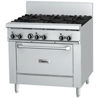 Garland GF36-4G12R 4 Burner 36 inch Gas Range with Flame Failure Protection, 12 inch Griddle, and Standard Oven - 160,000 BTU