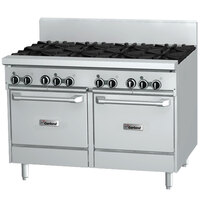 Garland GF48-8LL 8 Burner 48 inch Gas Range with Flame Failure Protection and 2 Space Saver Ovens -272,000 BTU