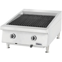 Garland GTBG24-AB24 24 inch Ceramic Briquette Charbroiler with Adjustable Grates - 60,000 BTU