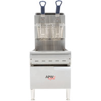 APW Wyott APWF-15C Natural Gas 15 lb. Countertop Fryer - 40,000 BTU