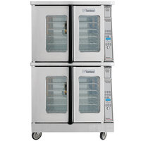 Garland MCO-GD-20 Double Deck Deep Depth Full Size Gas Convection Oven with Digital Controls - 120,000 BTU