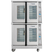 Garland MCO-GS-20 Double Deck Standard Depth Full Size Gas Convection Oven with Digital Controls - 120,000 BTU