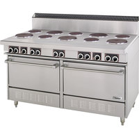 Garland SS684 Sentry Series 10 Sealed Burner Commercial Electric Restaurant Range with 2 Standard Ovens - 33 kW