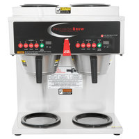 Grindmaster B-6 PrecisionBrew Digital 3 Gallon Automatic Coffee Brewer with 6 Warmers - 120/208-240V