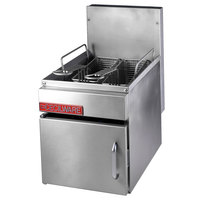 Cecilware GF-16 18 lb. Countertop Gas Fryer with Baskets