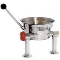 Cleveland KDT-1-T 80 oz. Tilting 2/3 Steam Jacketed Direct Steam Tabletop Oyster Kettle