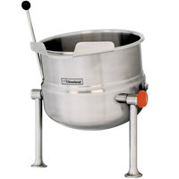 Cleveland KDT-20-T 20 Gallon Tilting 2/3 Steam Jacketed Tabletop Direct Steam Kettle