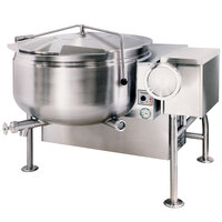 Cleveland KGL-40-TSH Short Series 40 Gallon Tilting Full Steam Jacketed Gas Kettle - 140,000 BTU