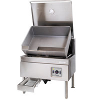 Cleveland SEL-40-TR 40 Gallon DuraPan Electric Open Base Tilt Skillet - 18 kW