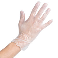 Noble Products Medium Powdered Disposable Vinyl Gloves for Foodservice