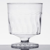 Fineline Flairware 2202 2 oz. 1-Piece Clear Plastic Wine Cup   - 10/Pack