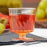 Fineline Flairware 2202 2 oz. 1-Piece Clear Plastic Wine Cup   - 10/Pack