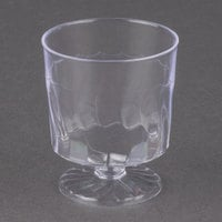 Fineline Flairware 2202 2 oz. Clear Plastic Wine Cup - 10/Pack