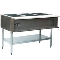 Eagle Group AWT3 Three Pan Water Bath Gas Steam Table - Sealed Well