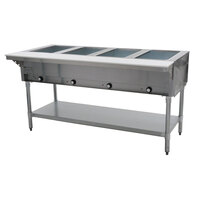 Eagle Group DHT4 Open Well Four Pan Electric Hot Food Table
