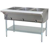 Eagle Group SHT3 Steam Table Three Pan - All Stainless Steel - Open Well