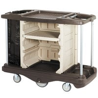 Continental 1585BN Beige / Brown Deluxe Lodging Cart