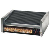 Star Grill Max 75SCBBC 75 Hot Dog Roller Grill with Duratec Non-Stick Rollers and Bun Drawer with Clear Door