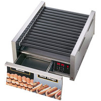 Star Grill Max 75SCBDE 75 Hot Dog Roller Grill with Bun Drawer, Electronic Controls and Duratec Non-Stick Rollers