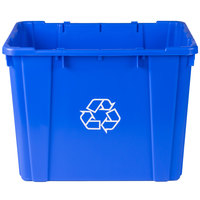 Continental 5914-1 Blue Curbside 14 Gallon Recycling Bin