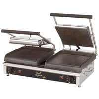 Star GX20IG Dual 10 inchx 10 inch Grill Express Grooved Top & Bottom Heavy Duty Panini Grill
