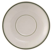 Tuxton TGB-002 Green Bay 6 inch Wide Rim Rolled Edge China Demitasse Saucer - 36/Case
