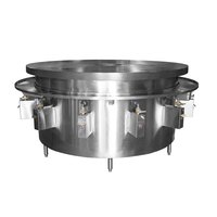 Town MBR-84C 84 inch Flat Top Mongolian Barbeque Range with Scrap Chute