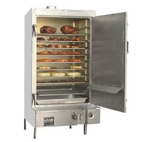 Town SM-30-R-STD Indoor 30 inch Galvanized Steel Smokehouse with Right Door Hinges - 60,000 BTU