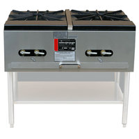 Town SR-24-G-2X-P Double Stock Pot Gas Stove - 274,000 BTU