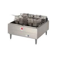 Wells F-67 30 lb. Dual Pot Electric Countertop Fryer - 9200W