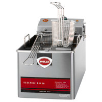 Wells LLF-14 14 lb. Nickel Plated Electric Countertop Fryer