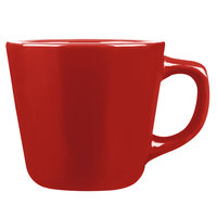 Tuxton NQF-701 TuxCare Healthcare 7 oz. Cayenne Colorado Tall Cup with Extra Large Handle - 36/Case