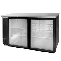 Beverage Air BB58G-1-B-LED 59 inch Back Bar Refrigerator with 2 Glass Doors - 115V, LED Lighting