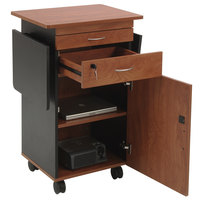 Oklahoma Sound MMC Cherry / Black Finish Multimedia Cart