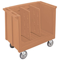 Cambro TDC30157 Coffee Beige Adjustable Tray and Dish Cart with Vinyl Cover