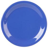 Carlisle 3300614 Sierrus 7 1/4 inch Ocean Blue Narrow Rim Melamine Salad Plate - 48/Case