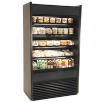 Structural Concepts Oasis B32-QS Black 34 1/2 inch Narrow Depth Air Curtain Merchandiser Refrigerator - 14.48 Cu. Ft., 120V