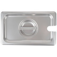 Choice 1/4 Size Stainless Steel Slotted Steam Table / Hotel Pan Cover