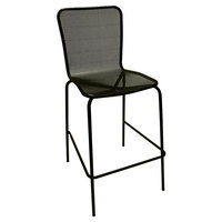 American Tables and Seating 92-BS Black Mesh Outdoor Bar Stool