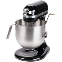 KitchenAid KSM8990OB Onyx Black NSF 8 Qt. Bowl Lift Commercial Countertop Mixer - 120V, 1 3/10 hp