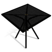American Tables and Seating AB3030 30 inch x 30 inch Black Square Outdoor Table