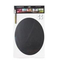 American Metalcraft FBOVAL Oval Silhouette Chalkboard - 15 inch x 11 3/4 inch