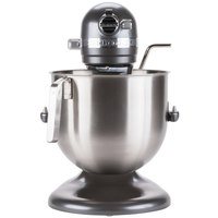 KitchenAid KSM8990DP Dark Pewter NSF 8 Qt. Bowl Lift Commercial Countertop Mixer - 120V, 1 3/10 hp